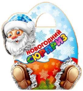 Новогодний подарок Новогодний сюрприз (премиум) картон 500 гр±10 гр